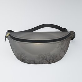 Moon Halo in the forest Fanny Pack