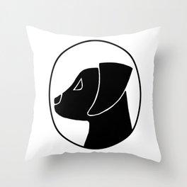 Labrador Puppy Cameo Throw Pillow
