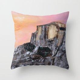 Yosemite Oil Painting Throw Pillow