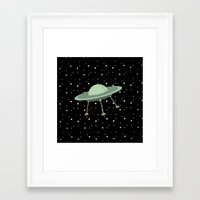 ufo Framed Art Prints featuring UFO by Mr and Mrs Quirynen