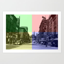 Baltimore St., Cumberland, Md. Art Print