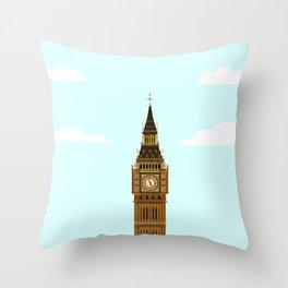 Big Ben Blue Skies Throw Pillow
