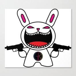 Mad bunny Canvas Print