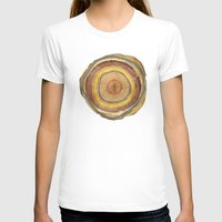 tree rings T-shirts featuring Tree Rings by Rachael Shankman