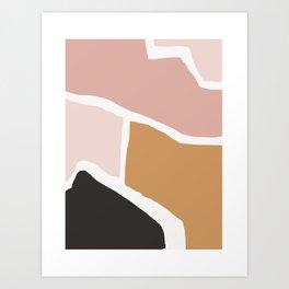 Rheia - earthtones minimal abstract art print Art Print