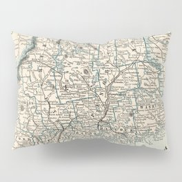 Vintage Map of Maine (1893) Pillow Sham