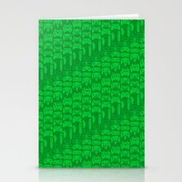 video game Stationery Cards featuring Video Game Controllers - Green by C.Rhodes Design