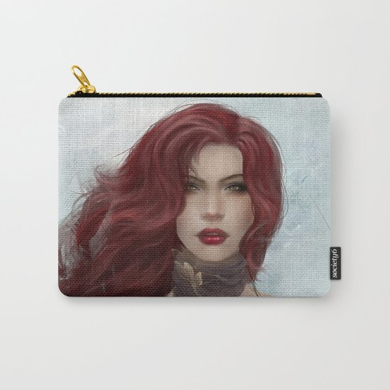 Gone - Portrait of a beautiful redhead girl Carry-All Pouch