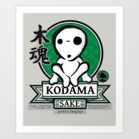 kodama Art Prints featuring Kodama Sake by adho1982