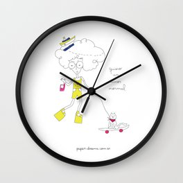 I wan´t a normal love Wall Clock
