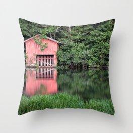 Mirror Lake House Throw Pillow