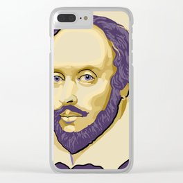 Shakespeare - royal purple and yellow Clear iPhone Case