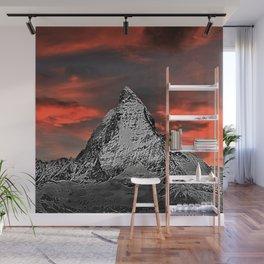 Matterhorn of Zermatt, Switzerland at sunset Wall Mural