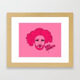 Pink Karla Framed Art Print