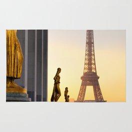 Sunrise in Paris France Rug
