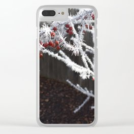 Frost Spiked Crabapple Tree Clear iPhone Case