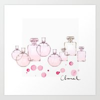 perfume Art Prints featuring Perfume by Illustra