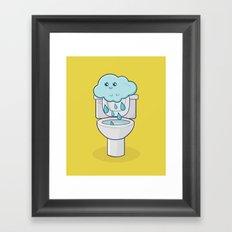 Bathroom Break Framed Art Print
