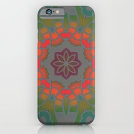 Fun with Coloring Infared Mandala iPhone Case