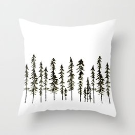 Northwoods Winter Forest Throw Pillow
