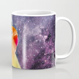 Bird Listening to Music in Outer Space Coffee Mug