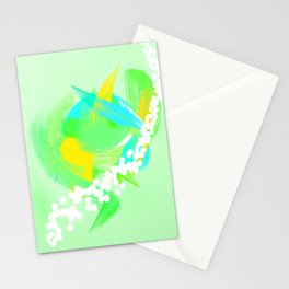 Abstract Paint Stationery Cards
