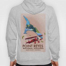 point reyes national seashore travel poster. Hoody