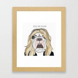 Celebrity Dogs-Khloe Pawdashian Framed Art Print