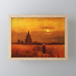 Vincent Van Gogh The Old Tower In The Fields Framed Mini Art Print