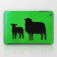 sheep iPad Cases featuring Sheep by Brontosaurus