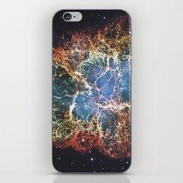 Crab Nebula in constellation Taurus. Supernova Core pulsar neutron star. iPhone Skin