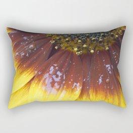 Flower Water Droplets Yellow Orange Rectangular Pillow