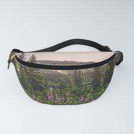 Mount Rainier Wildflower Adventure VII - Pacific Northwest Mountain Forest Wanderlust Fanny Pack