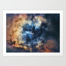 Night Moves - Partial Solar Eclipse Art Print