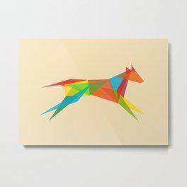Fractal Geometric Dog Metal Print
