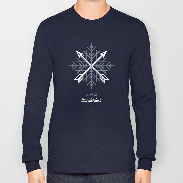 Winter Wanderlust (blue) Long Sleeve T-shirt