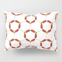 Red Japanese Maple Tree Samara Rounded Hex Pattern Pillow Sham