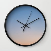 gradient Wall Clocks featuring Gradient by William