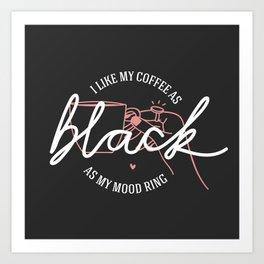 coffee rules II Art Print