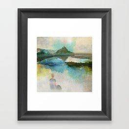 Listen to the silence Framed Art Print