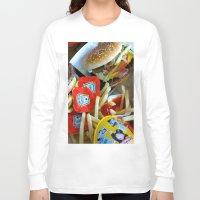 junk food Long Sleeve T-shirts featuring Junk Food by Renatta Maniski-Luke