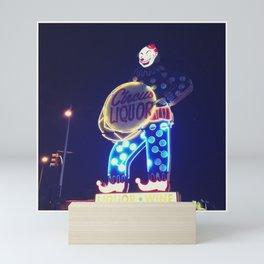 Circus Liquor Neon Sign Mini Art Print