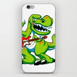 Dino rock plays a guitar. iPhone Skin
