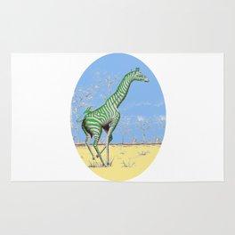 Girafe printemps Rug