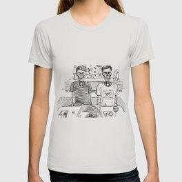 spooky dan and phil eat pizza T-shirt