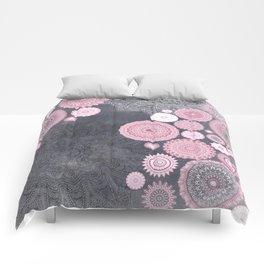 FESTIVAL FLOW - PINK GREY Comforters