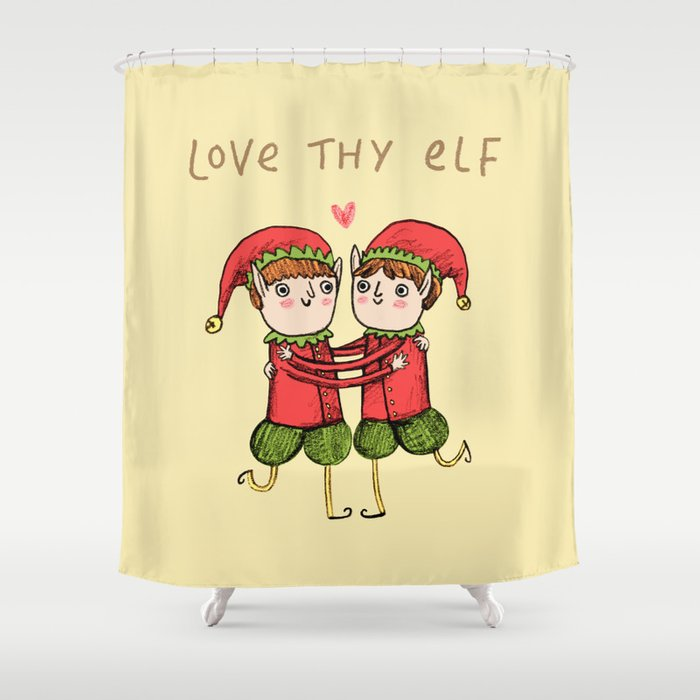 Love Thy Elf Shower Curtain