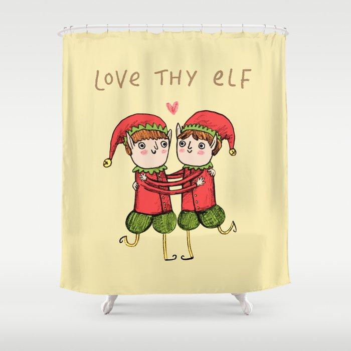 Love Thy Elf Shower Curtain