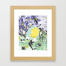 Sun & Moon Child Framed Art Print