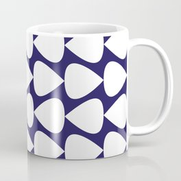 Plectrum Pattern in White on Delft Navy Blue Coffee Mug